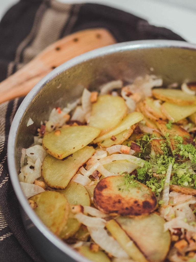 vegane Bratkartoffeln mit Fenchel